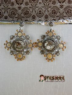 Stimpankovskie many earrings | biser.info - all about beads and beaded work
