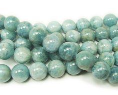 Aquamarine round beads (12mm)