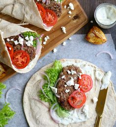 A full of flavour gyros recipe with lamb mince and feta.
