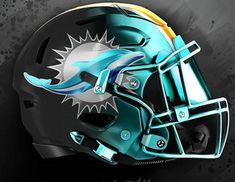 New Nfl Helmets, Football Helmet Design, College Football Helmets, New Helmet, Football Uniforms, Football Gear, Custom Basketball Uniforms, Custom Football, Miami Football