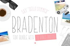 Bradenton: 2 Font/Image Bundle by Pixel Folks on @creativemarket