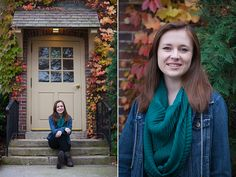 Fall Senior Pictures at the American Club Kohler WI by Rebecca Pfeifer