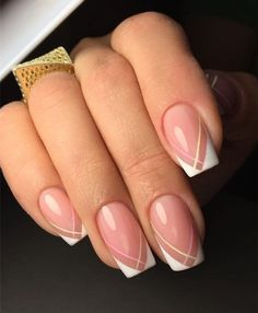 Cute Gel Manicure Designs That You Want To Copy; Best Gel Nail Design - Trendy Gel Nail Design Ideas Nails Cute Gel Manicure Designs That You Want To Copy French Nails, French Manicure Nails, Gel Manicures, Cute Acrylic Nails, Cute Nails, Pretty Nails, Hair And Nails, My Nails, Neon Nails