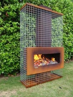 Outdoor Metal Fireplace - Ideas on Foter