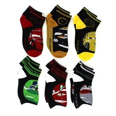 Disney Cars Boys 6 pk Quarter Socks. Great gift for Valentine's Day or Easter! www.YankeeToyBox.com #yankeetoybox #ytb #disney #cars #disneycars #lightningmcqueen #towmater Lightning McQueen and Tow Mater