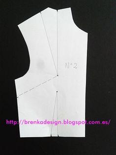 Rotación de Pinza Nro 2  Calcar el patrón del cuerpo base con pinzas (aquí  lo enseño con un patrón pequeño en escala) Sob... Luz Dary · Ropa de mujer 460f930ab02