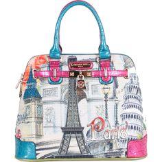 Nicole Lee Europe Print Handbag