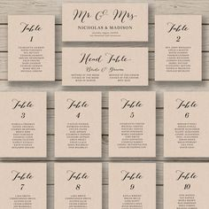 Wedding Seating Chart Template Printable Editable Table Plan You Edit In Word Rustic Calligraphy Style