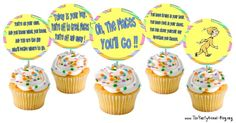 Free printable cupcake toppers for Dr. Seuss ~ perfect for our week of Dr. Seuss studies in honor of his birthday!