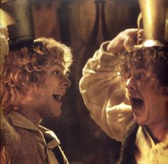 Merry & Pippin! Haha look at Pippin's face!!