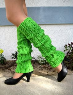 Funky Lime Green 80's Style Crocheted by vintagelookcreations, $19.95