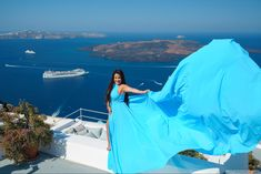 Magical flying dress #santorinidress8  #greeceislands #photooftheday Dress Rental, Greece Holiday, Greece Islands, Romantic Getaways, Holiday Photos, Most Romantic, Female Portrait, Unique Dresses, Videography