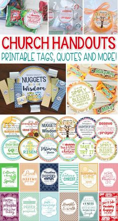 LDS Printables - QUOTES & Handout Tags! Great for Relief Society, Young Women YW, Seminary, Activity Days and Visiting Teaching! #mycomputerismycanvas