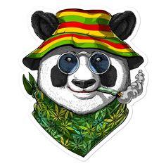 Weed Stickers, Neon Moon, Panda Art, New Sticker, Smoking Weed, Ganja, Adhesive Vinyl, Sticker Design, Abstract