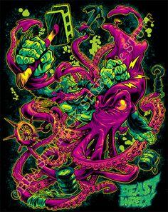 GORILLA VS. ARCHITEUTHIS shirt color by pop-monkey.deviantart.com on @DeviantArt