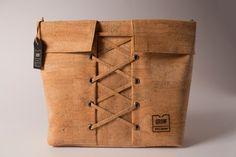 Ladies cork leather Crossbody bag, FREE SHIPPING, Vegan bag, eco bag, unique gift, handmade bag, vegan product, green ideas, Liege, Kork