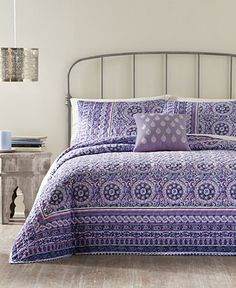 Jessica Simpson Mosaic Border Quilt - Quilts & Bedspreads - Bed & Bath - Macy's