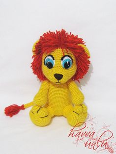 Pattern Amigurumi Lion by HavvaDesigns on Etsy, $5.50
