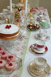 i want a tea party bridal shower!! - in our brand new tea room!