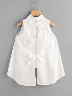 Shop Bow Tie Back High Low Blouse online. SheIn offers Bow Tie Back High Low Blouse & more to fit your fashionable needs.Bow Tie Back High Low Blouse For some who loves cutesy bows etc this is divineTo find out about the [good_name] at SHEIN, part of Little Girl Dresses, Girls Dresses, Dresses Dresses, Summer Dresses, Wedding Dresses, Baby Frocks Designs, Girl Outfits, Fashion Outfits, Dressy Outfits