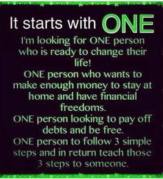 Be that one. Be apart of the journey with me. Call/Text me at 816-813-1579 or check out my web page wrapnangel.myitworks.com