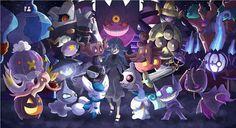 Hexy Maniac by zelc-face on deviantART Ghost Type Pokemon, Pokemon 20, Pokemon Fantasma, First Game, Halloween, Childhood, Deviantart, Cartoon, Face