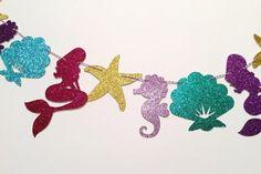 Under the Sea Glitter Garland Mermaid Decor Mermaid