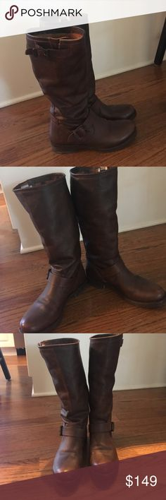 Frye Veronica Slouch Boots Re-posh! I bought these gorgeous boots on Poshmark and they were a little tighter in the toe than I prefer. I'm sad they didn't work out, but this is a steal for someone else! These boots are stunning in person. The quality of these Frye boots is impeccable. They are in excellent condition! Size 7. Smoke and pet free home. I will consider all offers! Frye Shoes