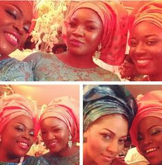 Selfie Queens. Funke Akindele, Omotola Jalade Ekeinde and Omolola Omotayo -Okoye #wedding #aso-ebi