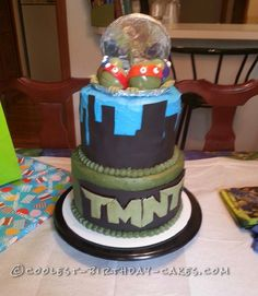 Amazing Image of Tmnt Birthday Cakes . Tmnt Birthday Cakes Coolest Tmnt Cake For A 2 Year Old Boy Ninja Turtle Birthday Cake, Double Layer Cake, Tmnt Cake, 3 Year Old Boy, Singing Happy Birthday, Cool Birthday Cakes, Teenage Mutant Ninja, Old Boys, Cake Ideas