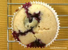 Emily Bites ~ Weight Watchers Friendly Recipes ~ Lemon Blueberry Muffins