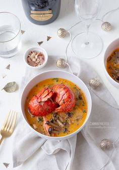 Zuppa thai all'astice e bollicine Valdobbiadene DOCG @lennesimoblog Curry, Ethnic Recipes, Sweet, Blog, Christmas, Beautiful, Party, Asian Cuisine, Pisces