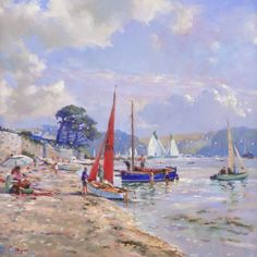 St Mawes Regatta. Limited Edition Print by Ted Dyer