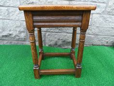 Antique Style Light  Oak Joint Stool.