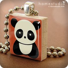 PANDA scrabble pendant - Amanda!!! What a great idea for making and selling jewelry!