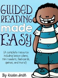 Guided Reading Made Easy {A Complete Resource} This packet includes: -Lesson Plans -Warm-Up Activities -Flash Cards -Guided Reading Books -Worksheets for Independent Practice -Comprehension Worksheets -Word Work -Vocabulary -Assessments -Games for your students to play after your guided reading groups and more!