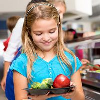 How one public school's vegetarian menu can be a lesson on eating healthier at home.