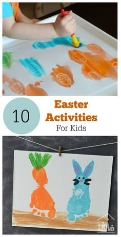 A round up of 10 of the best Easter Arts and Crafts Activities to keep your kids busy whilst you hide the Easter Eggs.