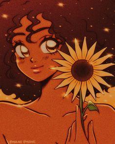 Black Girl Cartoon, Dope Cartoon Art, Cartoon Kunst, Black Girl Art, Anime Kunst, Art Girl, Anime Art, Cartoon Icons, Black Girl Aesthetic
