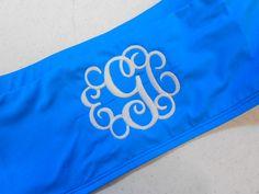 Monogrammed bandeau swimsuit