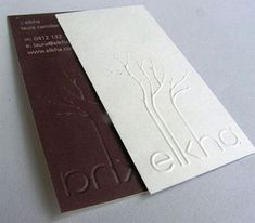 Beautifully embossed business cards