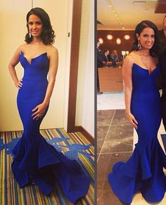 Amazing royal blue mermaid evening dress!  Love this dress for the marine corp ball