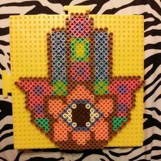 Hamsa amulet perler beads by redhotbitch