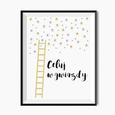 Plakat dla dzieci - Celuj w gwiazdy