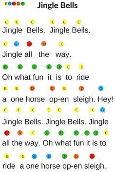 Christmas Handbell Song Sheets- Jingle Bells