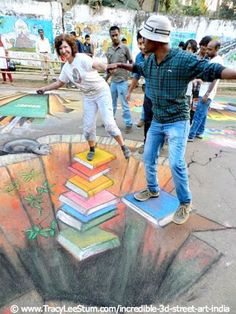 street art: books give you balance