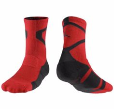 Nike Mens Jumpman DriFIT Basketball Red Black Crew Socks 12-15 XL 589042-695 #Nike #Athletic Basketball Equipment, Logo Basketball, Basketball Socks, Nike Michael Jordan, Nike Elite Socks, Crew Socks, Nike Men, Air Jordans, Sportswear