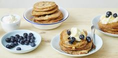 However you're celebrating Mother's Day, these fluffy Turmeric + Blueberry Buttermilk Pancakes will make it one to remember.