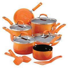 Orange Cookware Set