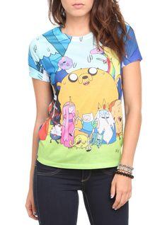 Adventure Time Group Girls T-Shirt Scene Outfits, Cool Outfits, Cartoon Network, Adventure Time Shirt, Hot Topic Shirts, Shirt Makeover, Cheer Shirts, Cartoon T Shirts, Fashion Line